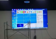智汇港49寸3.5mm拼缝液晶彩立方平台官网屏项目