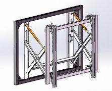 彩立方平台官网屏气动前维护彩立方平台官网支架(液压前维护支架)